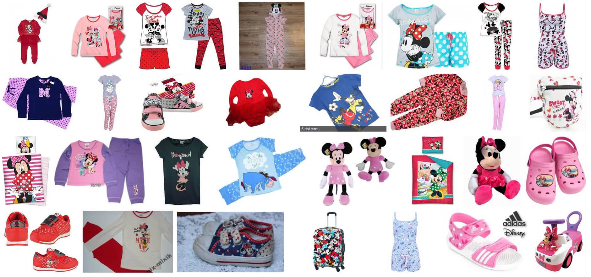 Wiele ubranek dla dzieci Disney można kupić na Allegro