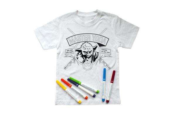 koszulka star wars gwiezdne wojny do pokolorowania pisaki